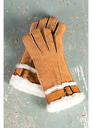 Women's Sheepskin Gloves with Buckle