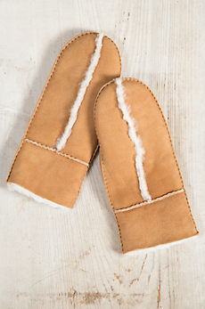 Women's Spanish Merino Sheepskin Mittens