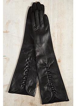 Women's Long Lambskin Leather Gloves