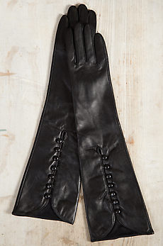 Women's Long Lambskin Leather Gloves