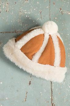 Children's Spanish Merino Sheepskin Beanie Hat