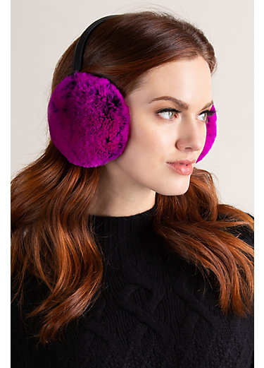 Rex Rabbit Fur and Leather Earmuffs