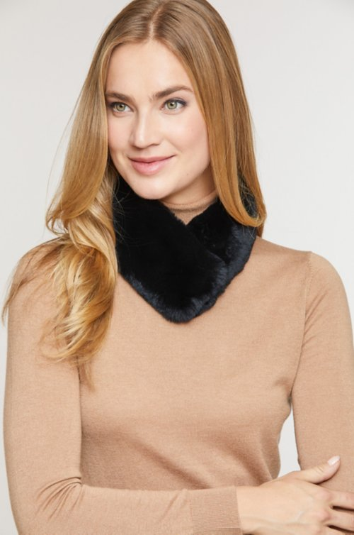 Rex Rabbit Neck Warmer with Magnetic Closure