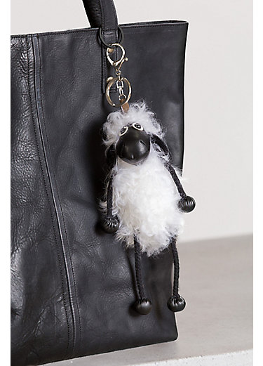 Tibetan Lamb Fur Sheep Keychain