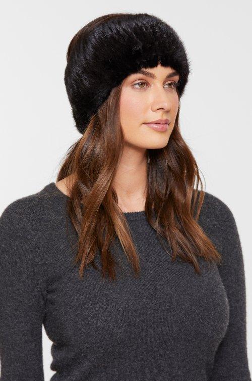 Knitted Finnish Mink Fur Headband