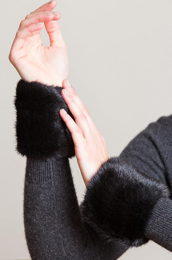 Stretch Knitted Danish Mink Fur Wrist Bands