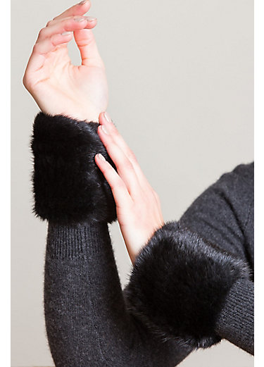 Stretch Knitted Danish Mink Fur Wrist Bands