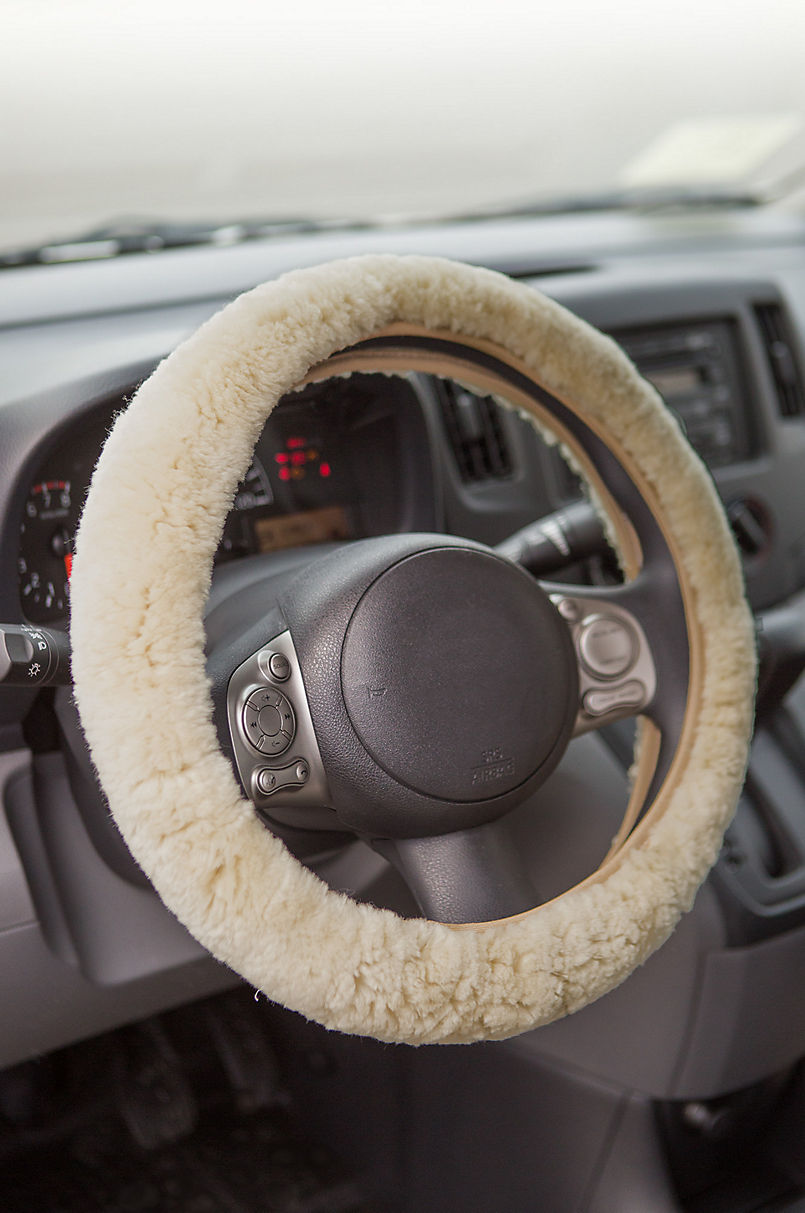 sheepskin steering wheel cover overlandproduct image