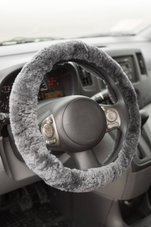 Sheepskin Steering Wheel Cover