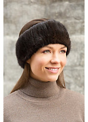Knitted Finn Mink Fur Headband