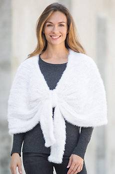 Lucia Knitted Finnish Mink Fur Capelet