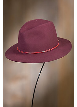 Avery Wool Felt Fedora Hat