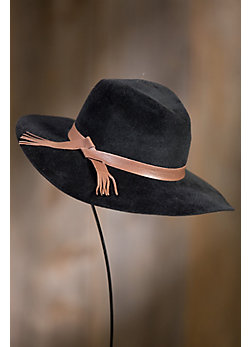 Luxe XL Glam Fur Felt Floppy Hat