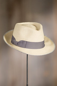 Refined Braid Straw Fedora Hat
