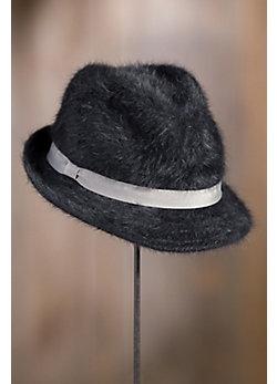 Andrea Angora Wool Fedora Hat