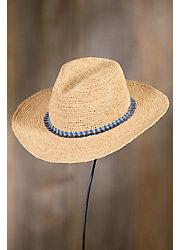 Handmade Continental Crocheted Raffia Cowboy Hat