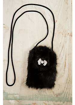 Canadian Mink Fur Phone Bag