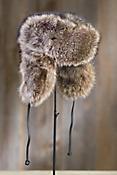 Russian Raccoon Fur Trapper Hat