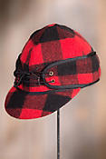 Canadian Buffalo Check Stormy Wool-Blend Cadet Cap