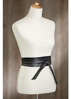 Nida Leather Wrap Belt