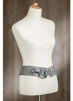 Tamma Leather Belt with Oversized Buckle
