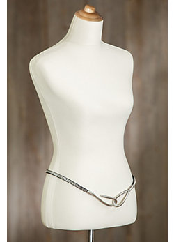 Sherlena Leather and Brass Belt