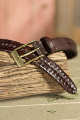 Milan Woven Leather Belt