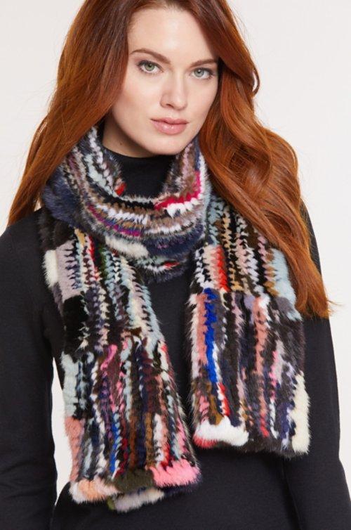 Caledonia Knitted Danish Mink Fur Scarf