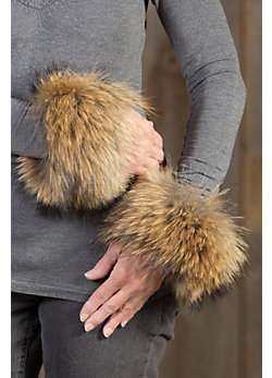 Women's Finn Raccoon Fur Snap Cuffs