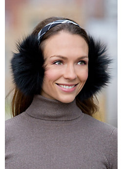Fox Fur Earmuffs