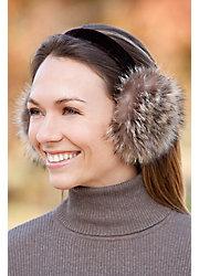 Raccoon Fur Earmuffs