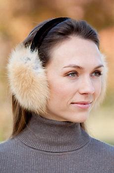 Small Fox Fur Earmuffs