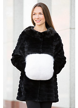 Women's Canadian Fox Fur Hand Muff