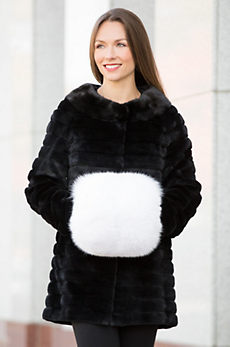 Canadian Fox Fur Hand Muff