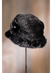 Knitted Danish Mink Fur Cloche Hat