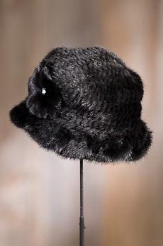 Knitted Danish Mink Fur Cloche Hat