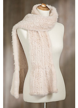 Knitted Danish Mink Fur Scarf