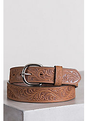 Western Scroll Leather Belt