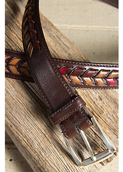 "Fallbrook Laced 1 3/8"" Leather Belt"