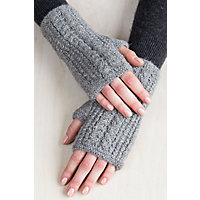 Victorian Gloves | Victorian Accessories Womens Cable Knit Peruvian Alpaca Fingerless Gloves $29.00 AT vintagedancer.com