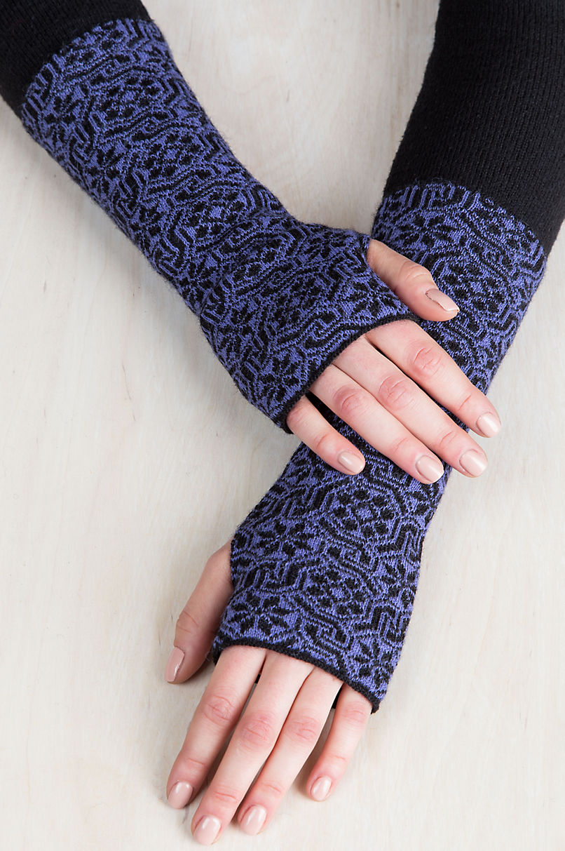 Women's Glacier Peruvian Alpaca Wool Fingerless Gloves
