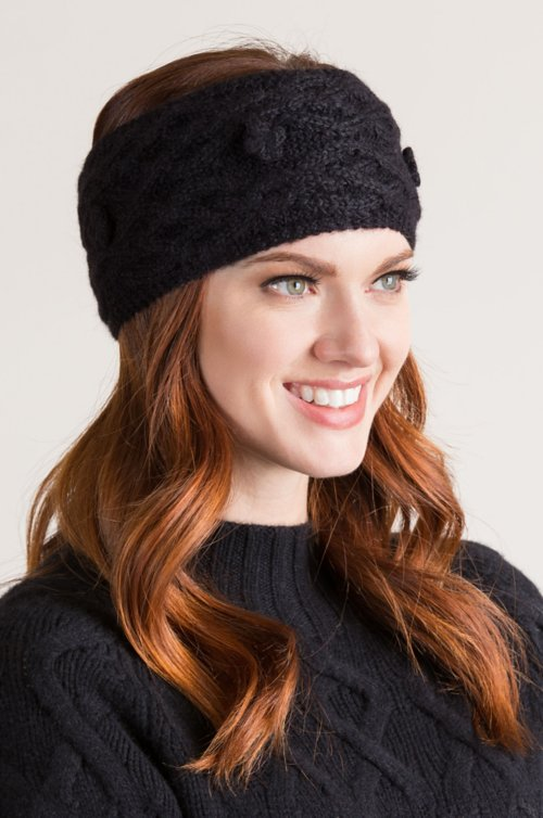 Alder Cable Knit Peruvian Baby Alpaca Wool Headband