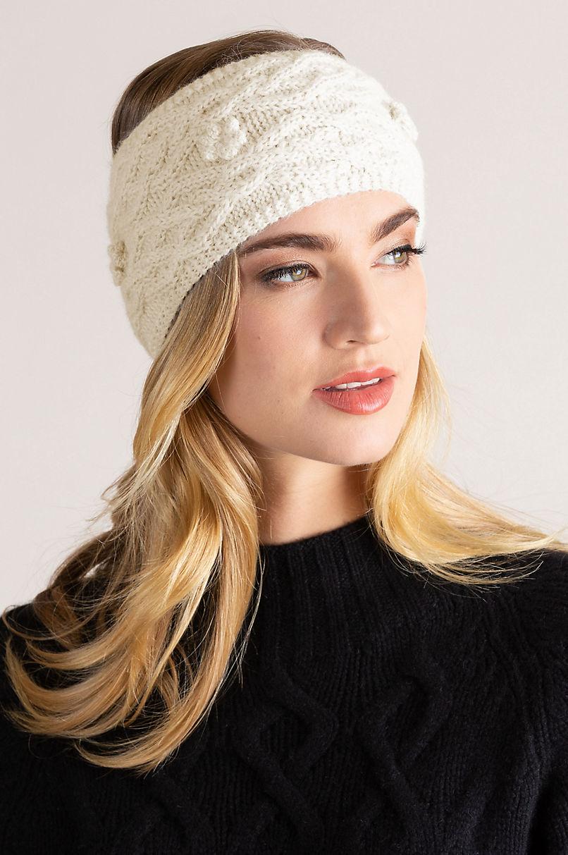 Cable Knit Peruvian Alpaca Wool Headband
