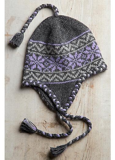 Nordic Superfine Alpaca Chullo Beanie Hat