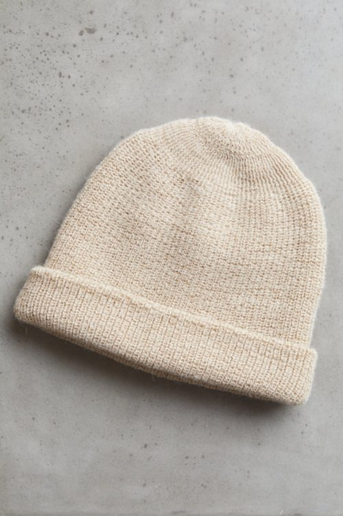 Double Knit Alpaca Wool Beanie Hat