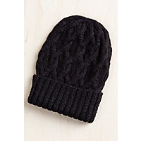 Cable Knit Peruvian Alpaca Wool Beanie Hat