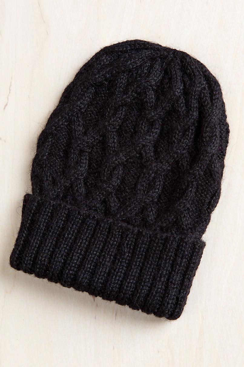 Cable Knit Peruvian Alpaca Wool Beanie Hat