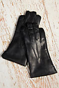 Men's Dents Lambskin Leather Gloves with Rabbit Fur Lining