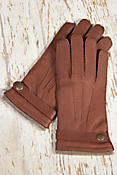 Men's Dents Casual Cashmere-Lined Deerskin Leather Gloves