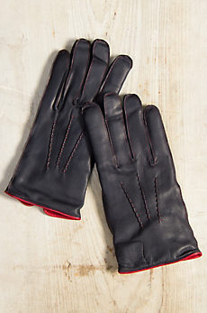 Men's Dents Alnwick Cashmere-Lined Lambskin Leather Gloves